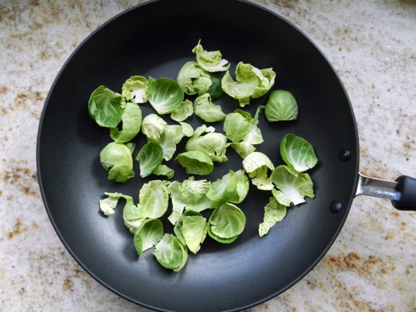 sauteed brussel sprout leaves