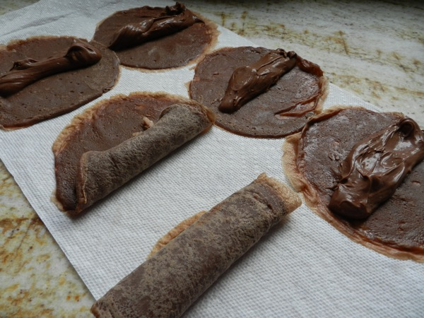 frozen chocolate crepes