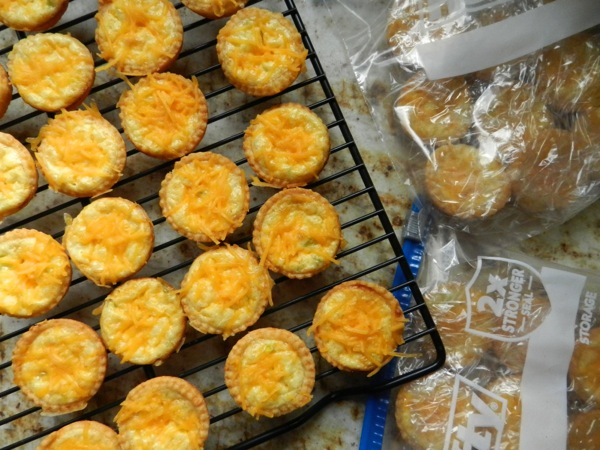 Cheddar cheese tartlets
