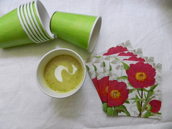 cold curried zucchini soup